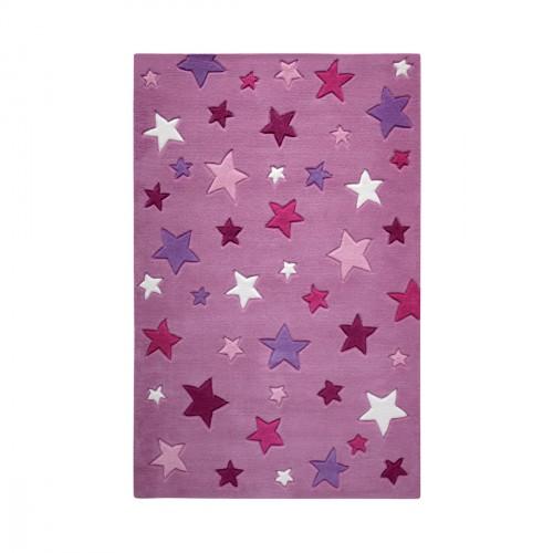 Tapis étoiles Simple Stars rose