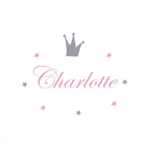 Sticker prénom prince Charlotte