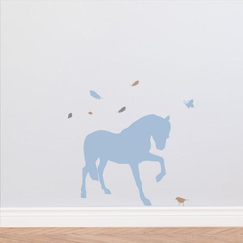 Sticker cheval plume
