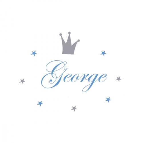 Sticker prénom prince George