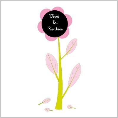 Sticker ardoise : fleur