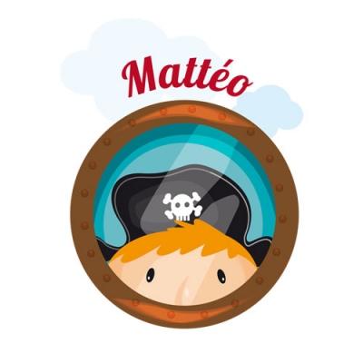 Sticker hublot pirate Mattéo