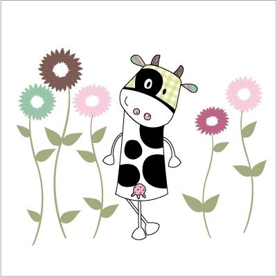 Sticker Marguerite la petite vache