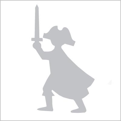Sticker pirate gris