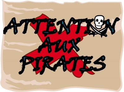 Sticker Plaque de porte - Attention aux Pirates