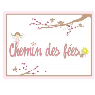 Sticker Plaque de porte - Chemin des fées