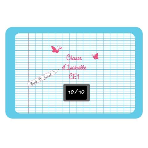 Sticker Plaque de porte  ardoise bleue