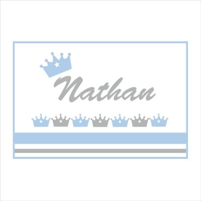 Sticker Plaque de porte couronne Nathan