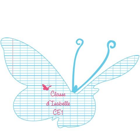 Sticker Plaque de porte de la classe forme papillons
