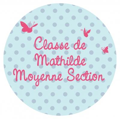 Sticker Plaque de porte de la classe papillons