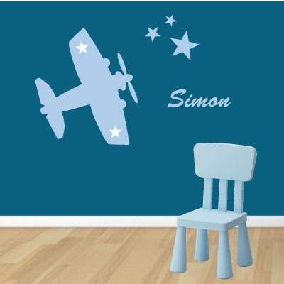 Sticker prénom avion