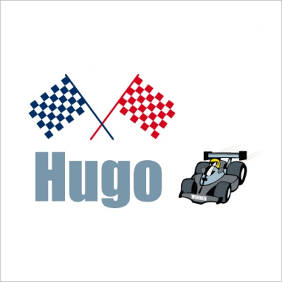 Sticker prénom F1 Hugo