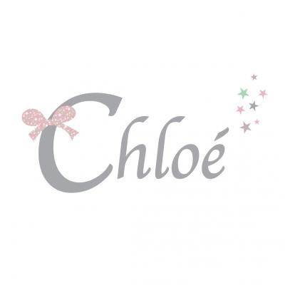 Sticker prénom Noeud Chloé