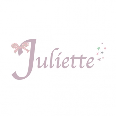 Sticker prénom Noeud Juliette