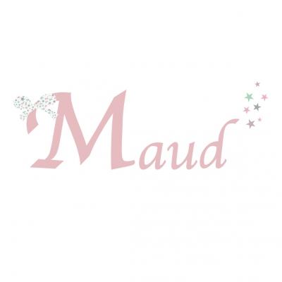 Sticker prénom Noeud Maud