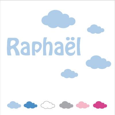 Sticker prénom nuage