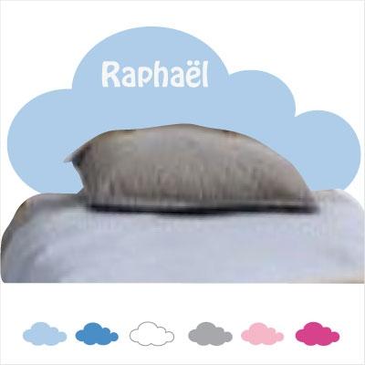 Sticker tête de lit nuage personnalisable