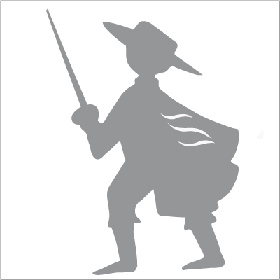 Sticker zorro gris