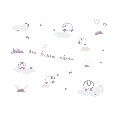 Stickers Allée des beaux rêves violet