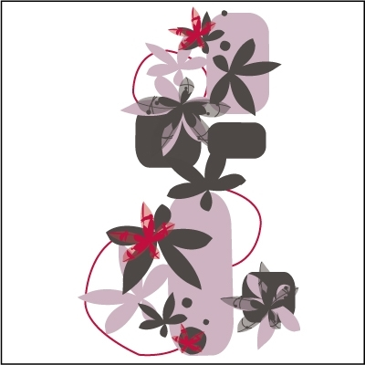 Stickers Ambiance florale
