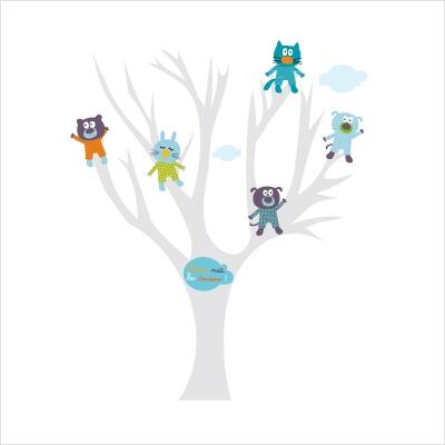 Stickers arbre à doudous