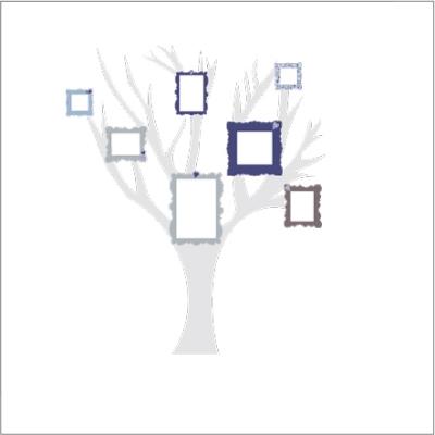 Stickers arbre à photos adhésifs bleu