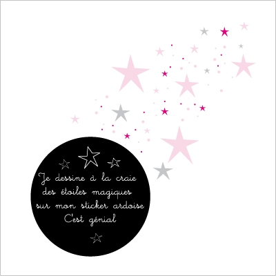 Stickers Ardoise étoiles