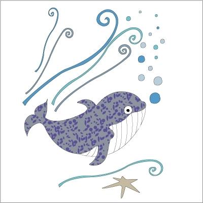 Stickers Baleine bleue