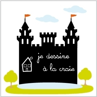 Stickers château Ardoise