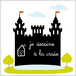 Stickers château Ardoise Géant