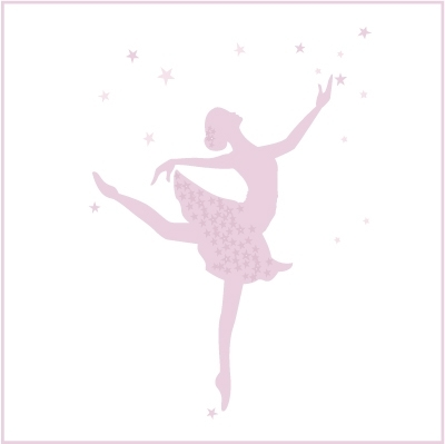 Stickers Danseuse Etoile Grand format