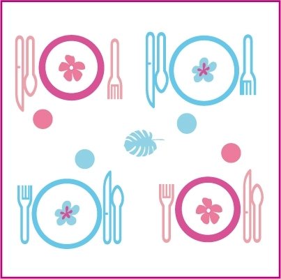 Stickers Dinette Bleue