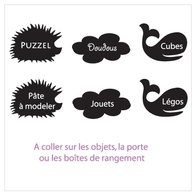 Stickers etiquette ardoise  babies