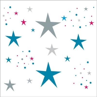 Stickers Etoiles Magiques bleues pour les garçons