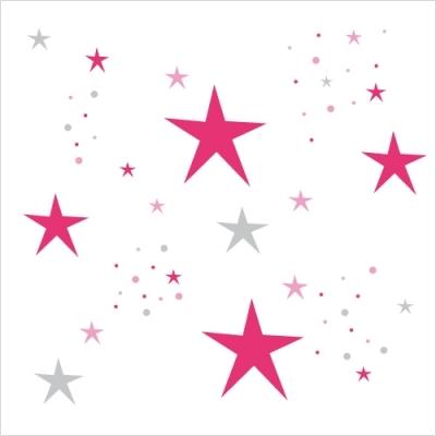 Stickers etoiles magiques fushia et gris lili pouce boutique d co chambre b b enfants et - Sapin rose et blanc ...