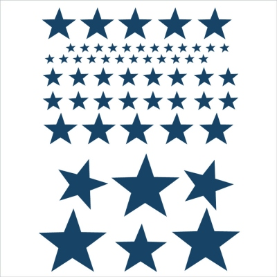 Stickers Etoiles Oscar bleu marine
