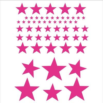 Stickers Etoiles rose vif