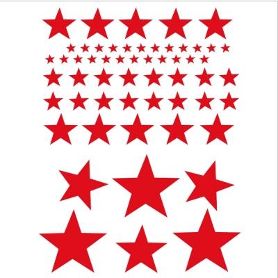 Stickers Etoiles rouge