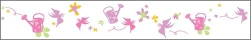 Stickers Frise fleurs oiseaux
