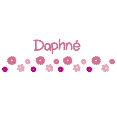 Stickers Frise fleurs rose Daphné