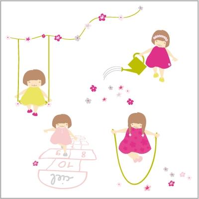 Stickers Jeux de filles