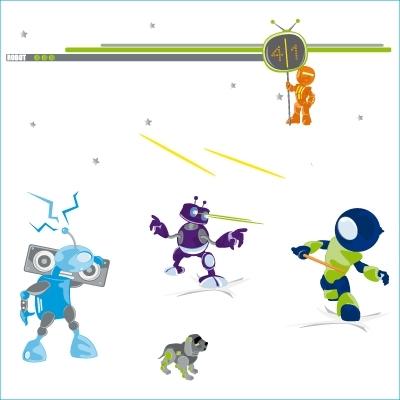 Stickers Jeux de robots