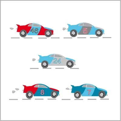 Stickers La course auto