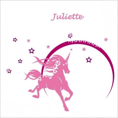 Stickers La licorne rose