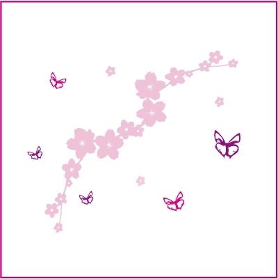Stickers Le Jardin Aux Papillons Rose Lili Pouce Stickers