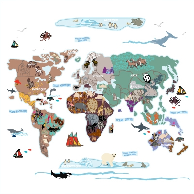 Stickers le monde
