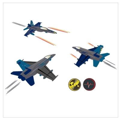 Stickers Les avions de chasse