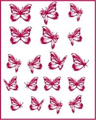Stickers Les petits papillons