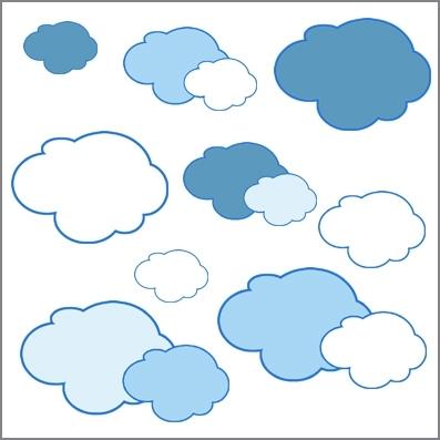 STICKERS SISSI nuages | Lili Pouce : stickers, appliques, frises ...