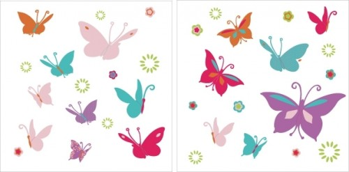 Stickers Papillons multicolores